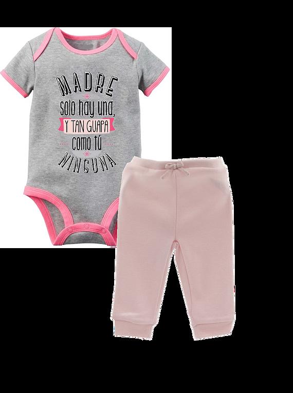 Ropa Para Bebe Body Bodi y pantalón Madre solo hay una