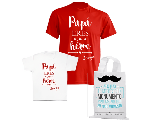 body kit bebe y Papá Héroe día del padre
