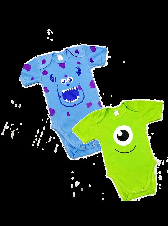 Bodys para bebe Monster Inc. sullivan y mike