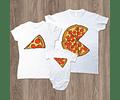 Amor y amistad Tríos camisetas para Mamá  papá y bebe Pizza