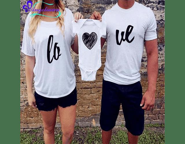 Amor y amistad Tríos camisetas para Mamá  papá y bebe LOVE