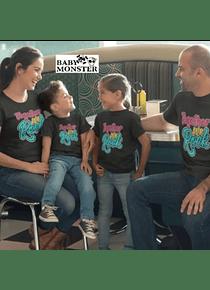 Amor y amistad Tríos camisetas para Mamá  papá y bebe Rock