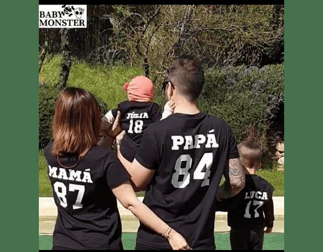 Amor y amistad Tríos camisetas para Mamá  papá y bebe deportivo