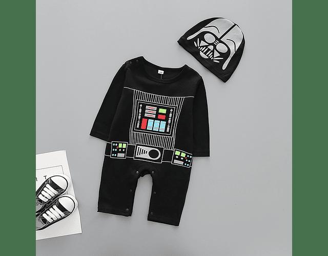 Pijama enterizo ropa para bebe Darth vader stawars con gorro baby monster