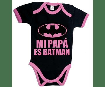 Ropa para bebe Bodi Batman mi papá es batman
