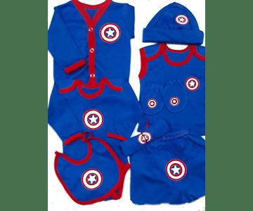 Set Primera Muda comics Capitan America Ropa Para Bebe Baby Monster