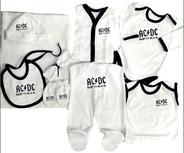 Set Primera Muda AC/DC Para Bebe Baby Monster