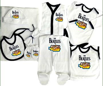 Set Primera Muda Rock The beatles Para Bebe Baby Monster