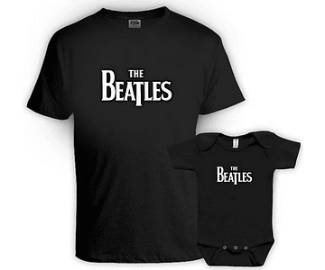 camisetas para Papá y bebe The Beatles