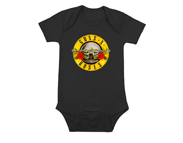 Body Bodie Guns And Roses clasico Rock Baby Monster