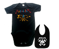 set ropa para bebe rock metallica crayola - Baby monster​​​