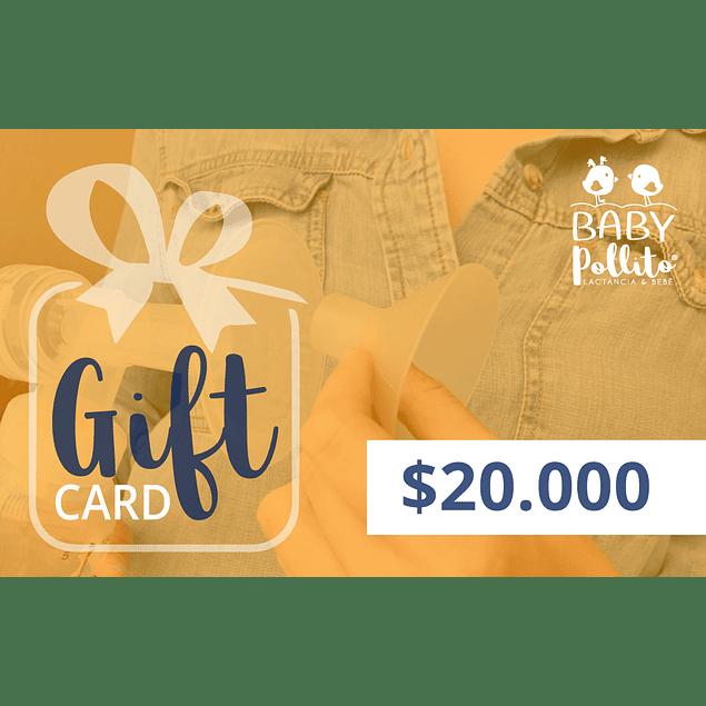 Gift Card Baby Pollito