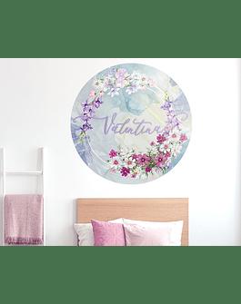 Puertecillo Floral Lila: nombre a elección