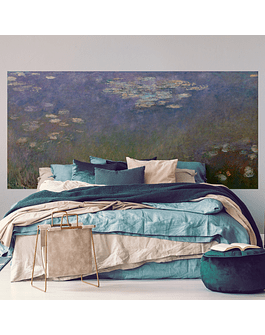 Claude Monet Headboard: Water Lillies & Agapanthus - 1915 - 1926