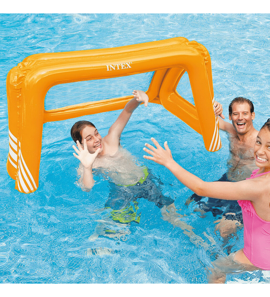 Flotador Inflable Juego Piscina Intex Arco Fútbol y Waterpolo 140 x 89 x 81 cm