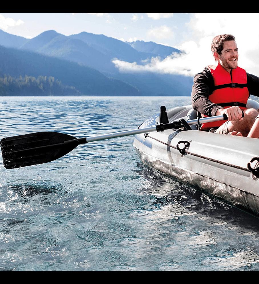 Remos Aluminio Intex Para Bote y Kayak 122 cm Convertibles en 1 Remo 244 cm