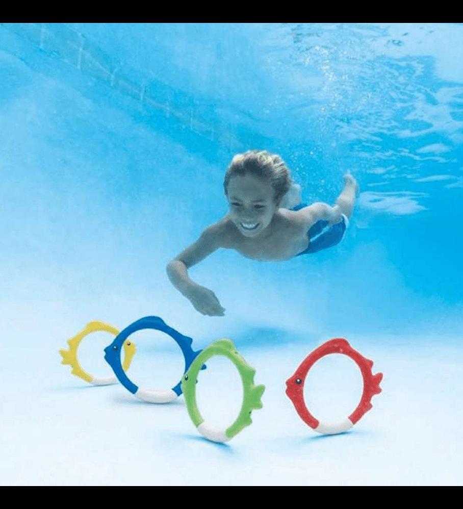 Juego Piscina Intex Set 4 Anillos de Pez Bajo el Agua
