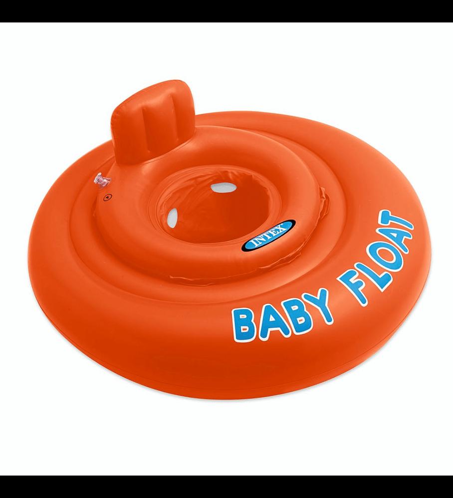 Flotador Inflable Bebe Intex Redondo Naranja 76 cm Niños 1 - 2 Años Capacidad 15 kg