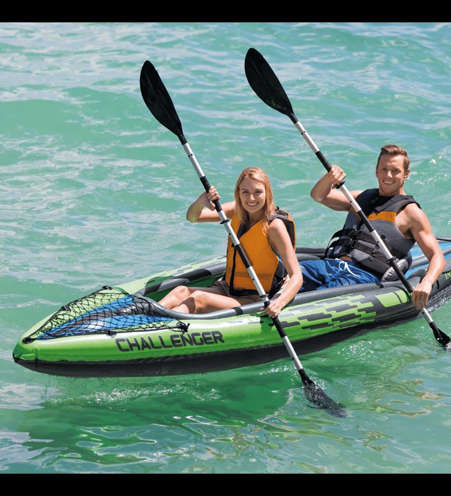 Kayak Inflable Intex Challenger K2 Set 2 Personas + Remos + Inflador Capacidad 2 Personas