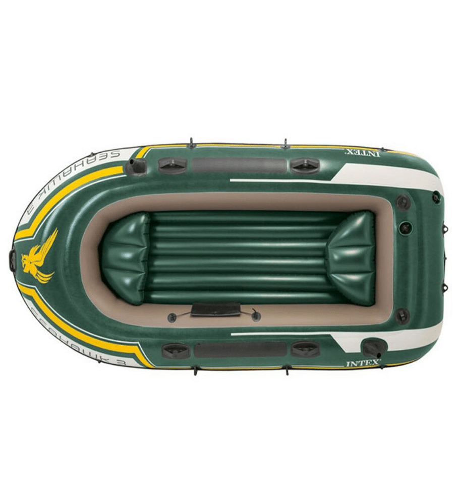 Bote Inflable Intex Seahawk 3 Set + Remos + Inflador Capacidad 360 Kg