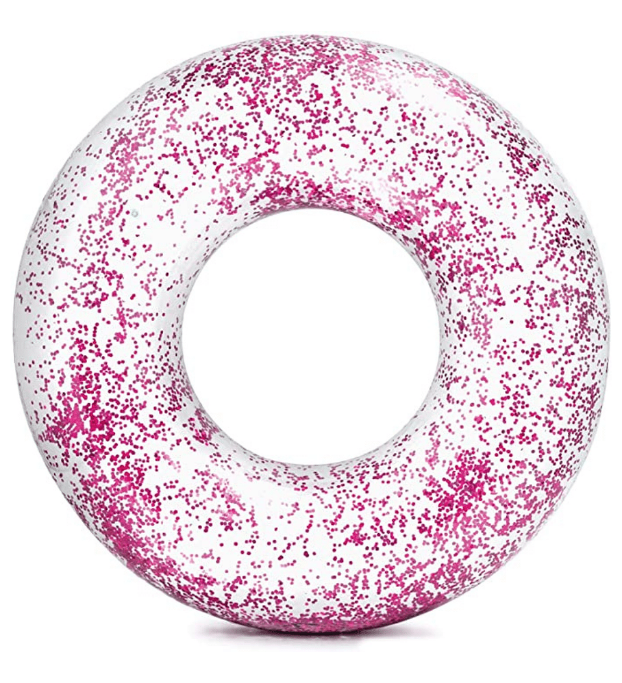 Flotador Inflable Redondo Intex Brillo Rosado 107 x 27 cm