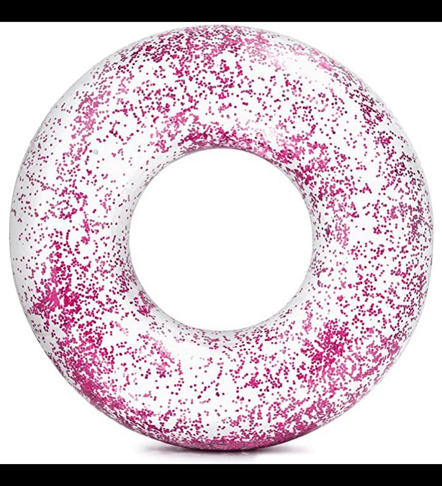 Flotador Inflable Redondo Intex Brillo Rosado 107 x 27 cm