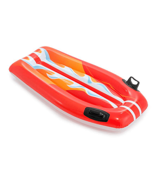 Flotador Inflable Mat Intex Tabla De Body Rojo 112x62 cm