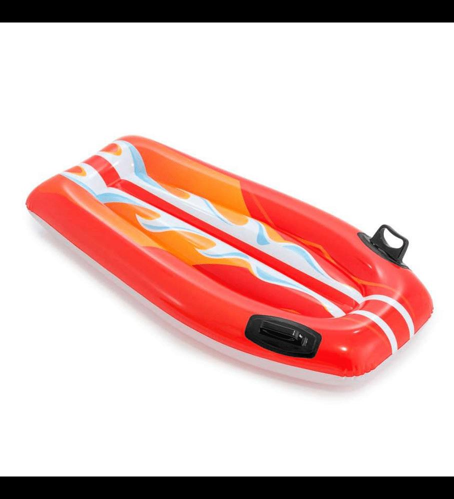 Flotador Inflable Mat Intex Tabla De Body Rojo 112x62 cm