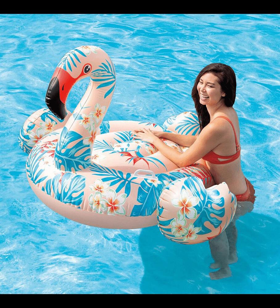 Flotador Inflable Diseño Intex Flamenco Tropical 147 x 140 x 94 cm