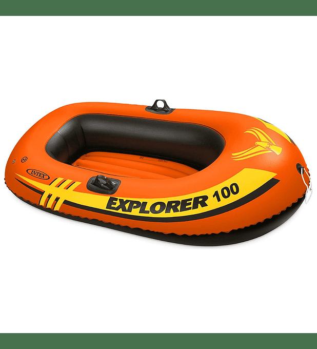 Bote Inflable Intex Explorer 100 Capacidad 55 Kg