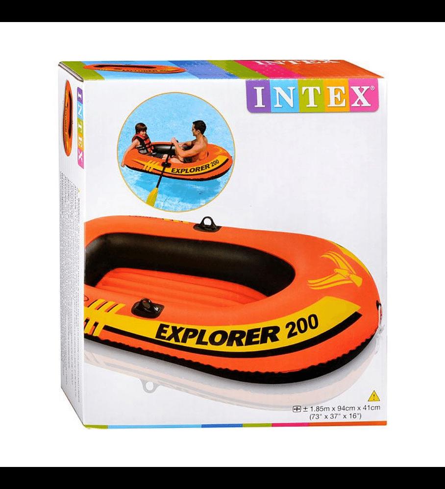 Bote Inflable Intex Explorer 200 Capacidad 95 Kg
