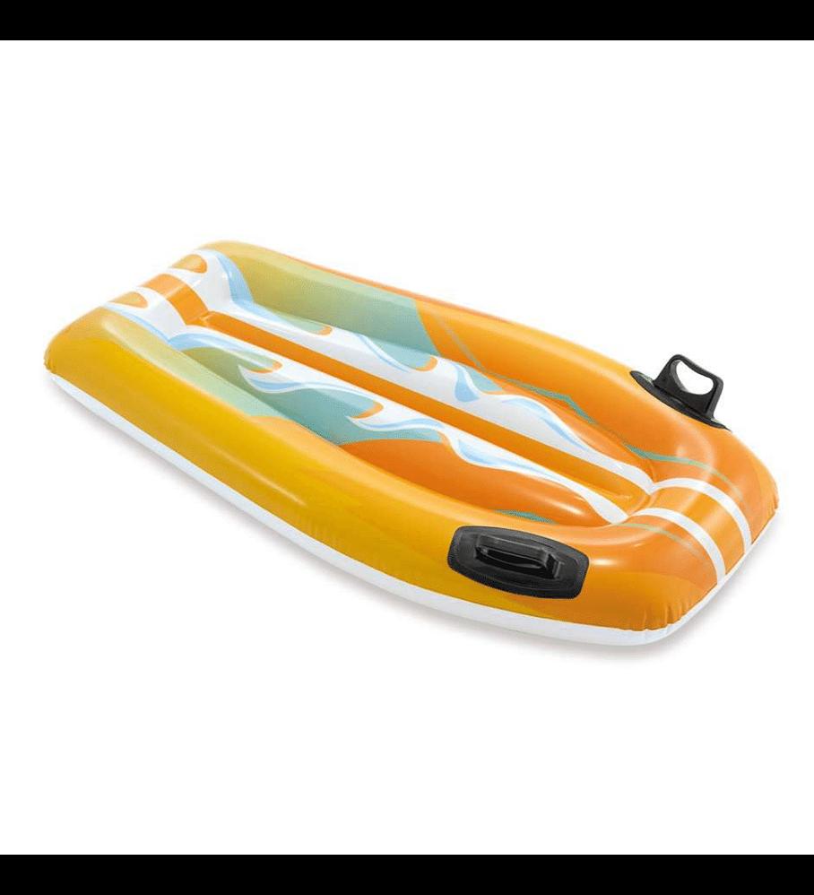 Flotador Inflable Mat Intex Tabla De Body Naranja 112x62 cm