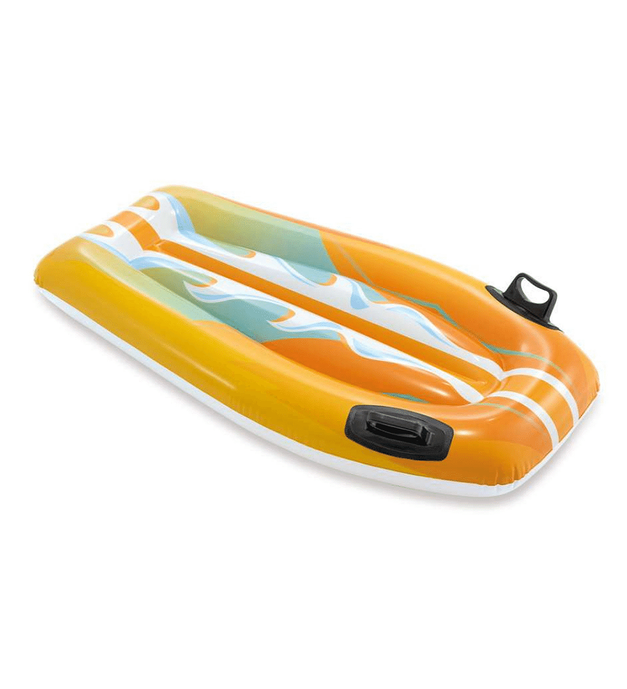 Flotador Inflable Mat Intex Tabla De Body Naranja 112x62 cm