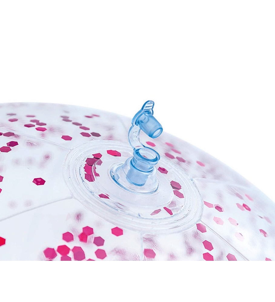 Pelota Inflable Intex Brillo Rosado 51 cm