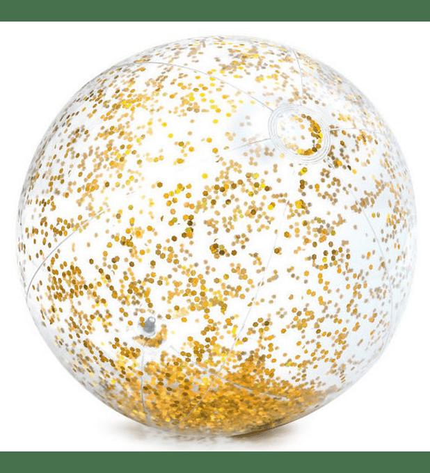Pelota Inflable Intex Brillo Dorado 51 cm