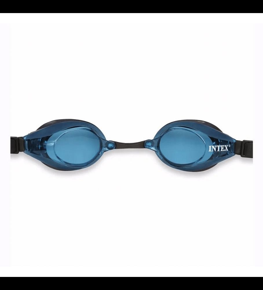 Lentes de Agua Intex Anteojos Natación Negro Azul Adulto Edad 8+