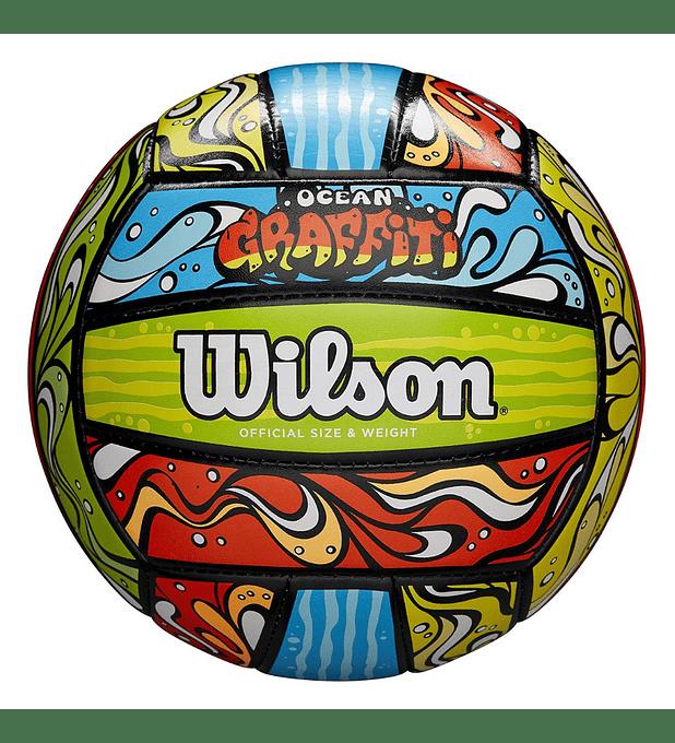 Balón Volleyball Wilson Ocean Graffiti Tamaño 5