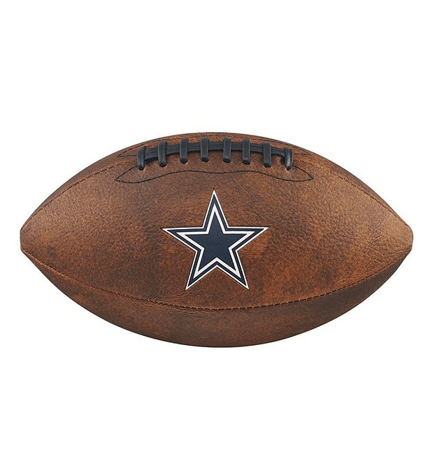 Balón Futbol Americano Nfl Jr Throwback Team Logo Dallas Cowboys Pelota Tamaño GST Colegial