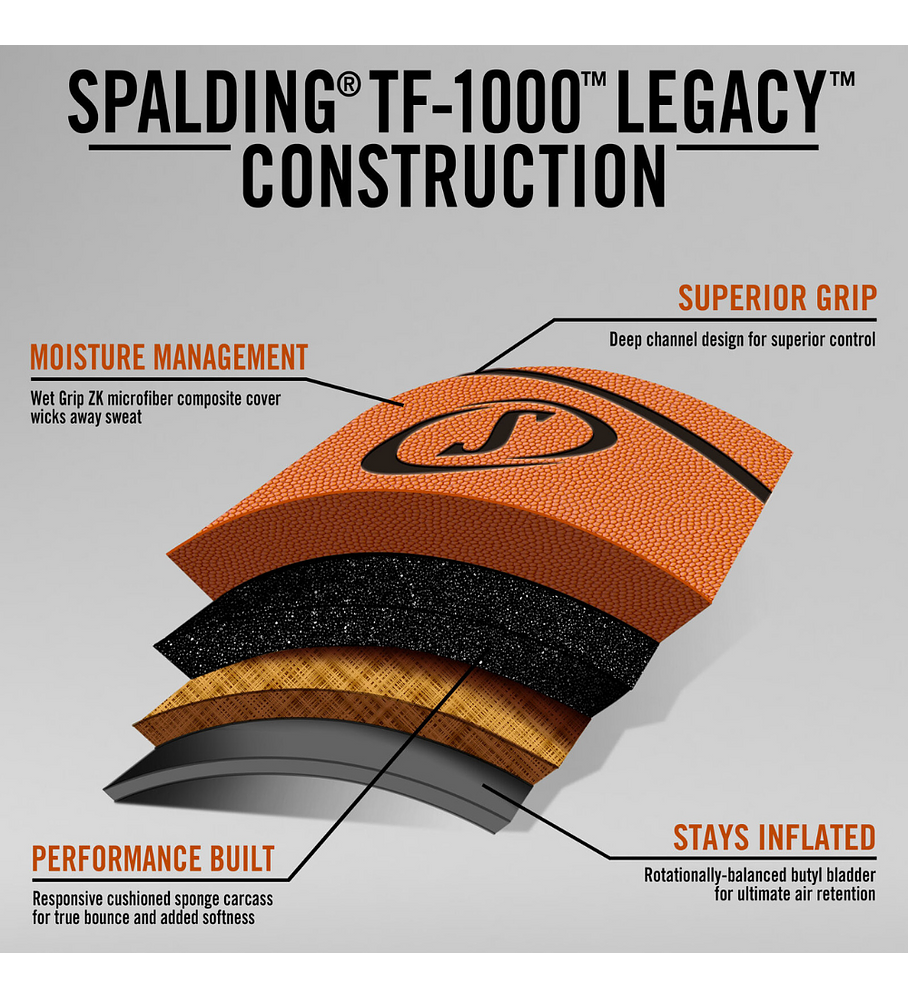 Balón Basketball Spalding TF 1000 Legacy FIBA Tamaño 7