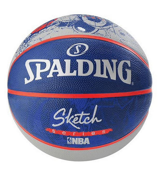 Balón Basketball Spalding NBA Sketch Series Robot Tamaño 7