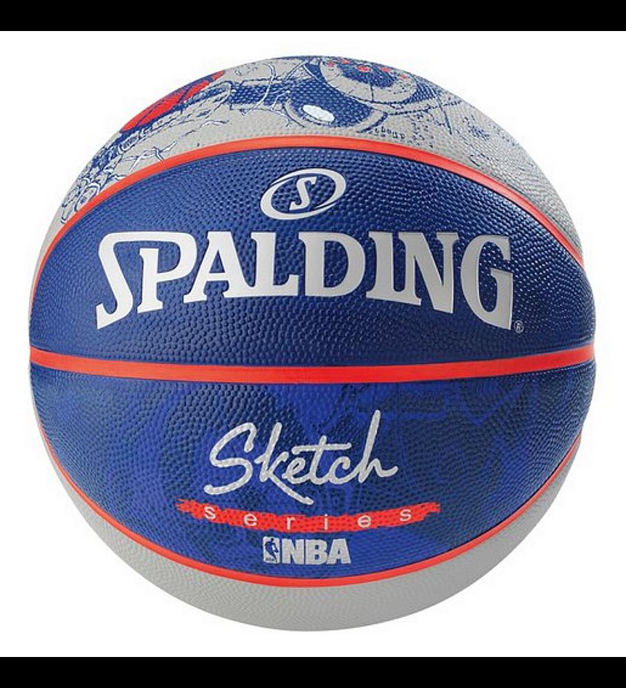 Balón Basketball Spalding NBA Sketch Series Robot Tamaño 7