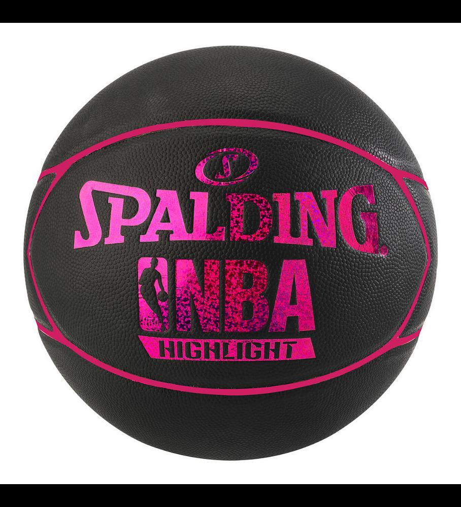 Balón Basketball Spalding NBA Highlight Hologram Tamaño 7 Rosado