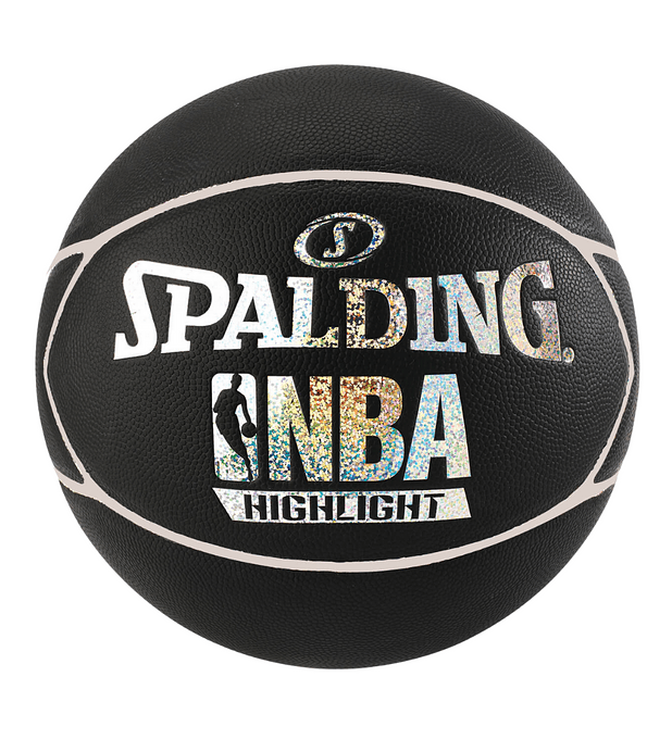Balón Basketball Spalding NBA Highlight Hologram Tamaño 7 Plata