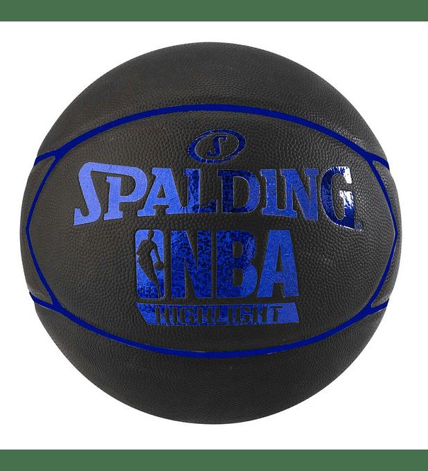 Balón Basketball Spalding NBA Highlight Hologram Tamaño 7 Azul