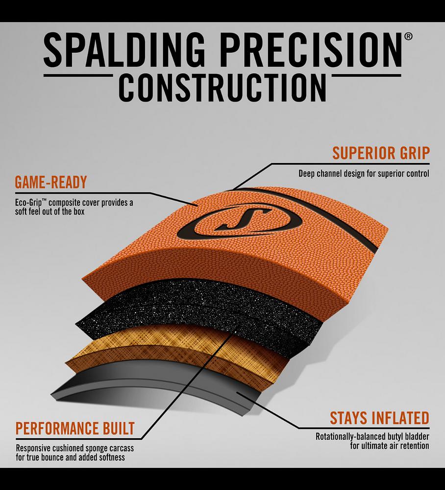 Balón Basketball Spalding Precision Advanced Eco-Grip Tamaño 7