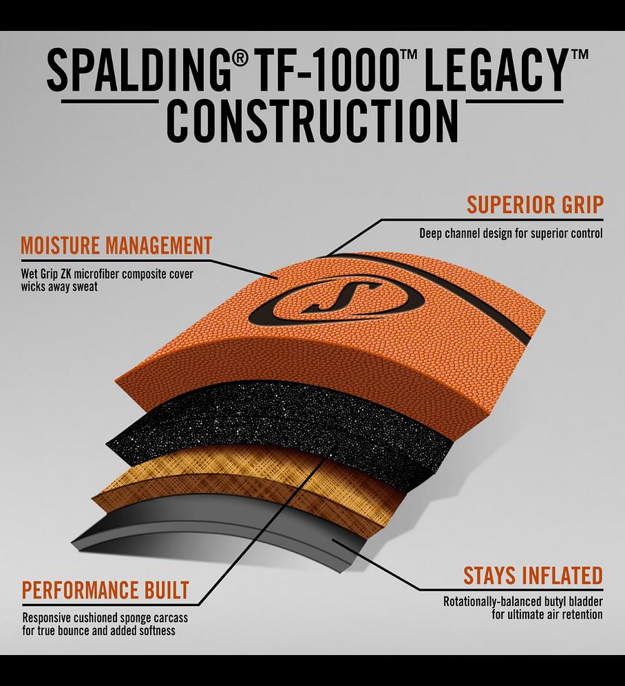 Balón Basketball Spalding TF 1000 Legacy FIBA Tamaño 6
