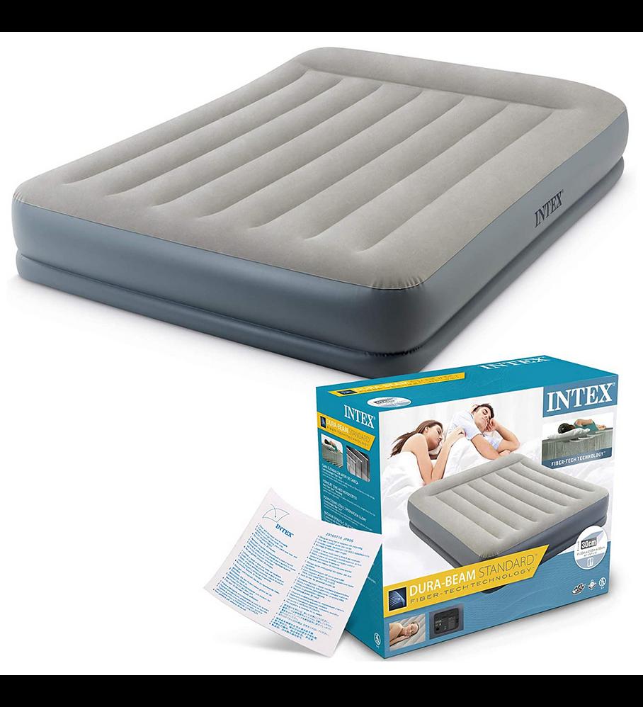 Colchón Inflable Eléctrico Intex 2 Plazas 152x203x30 Cm Pillow Rest Mid-Rise