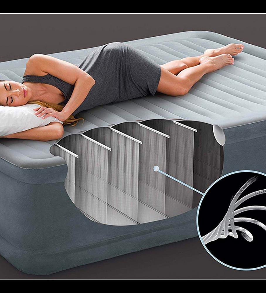 Colchón Inflable Eléctrico Intex 2 Plazas 152x203x33 Cm Comfort Plush