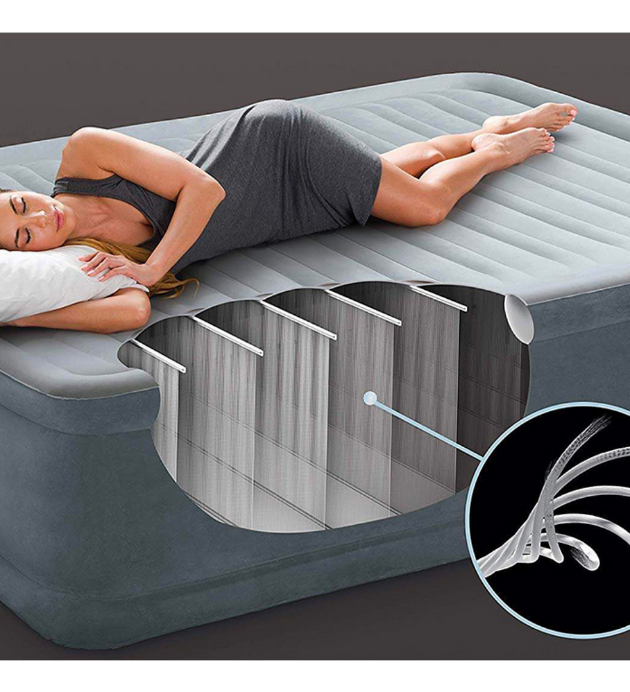 Colchón Inflable Eléctrico Intex 1,5 Plazas 99x191x46 Cm Comfort Plush