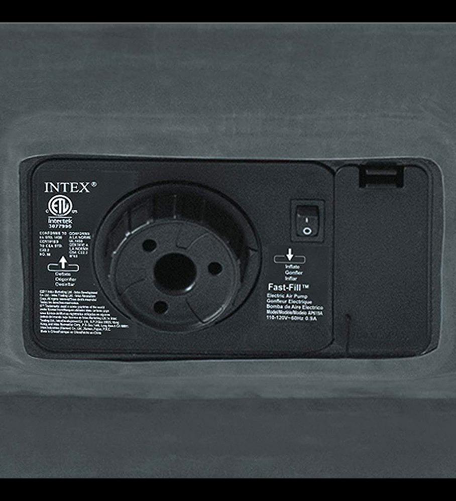 Colchón Inflable Eléctrico Intex 2 Plazas 152x203x46 Cm Comfort Plush